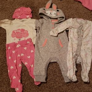 Lot 5 pieces: baby clothing size 0-3